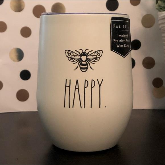 Rae Dunn stainless steel Bee Happy wine tumbler